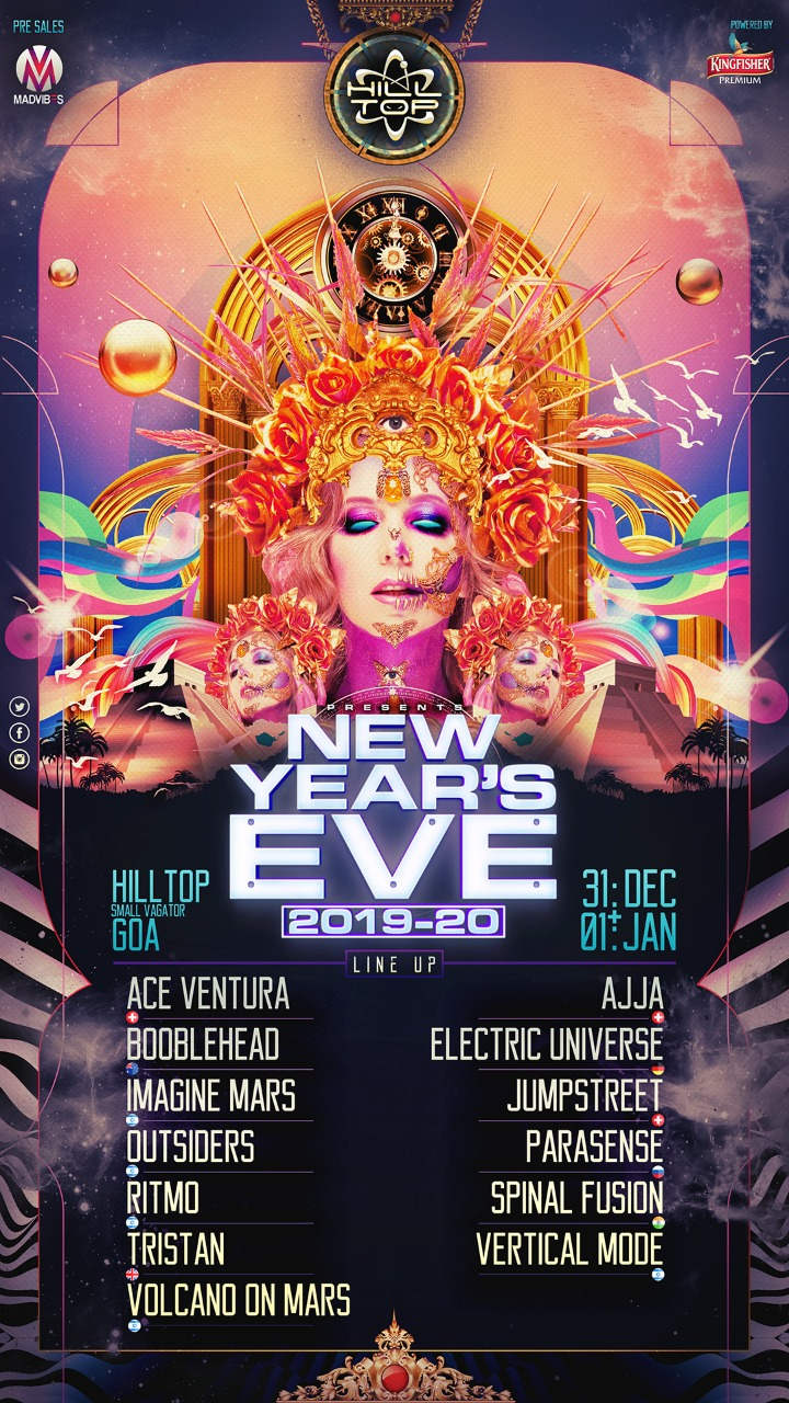 Hilltop Go Newyear 2020 party tickets Goa