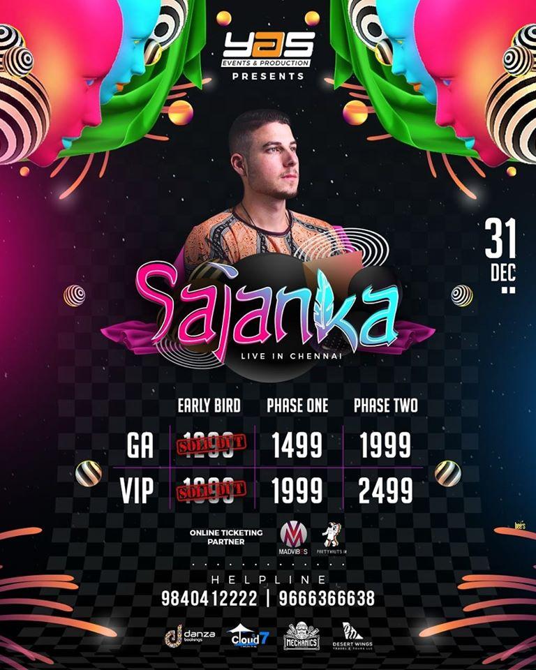 Sajanka chennai Newyear 2020 NYE Sajanka Chennai
