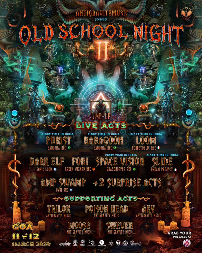 Old school night 2.0 music festival in Goa