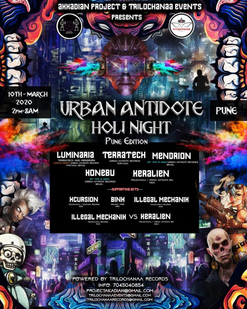 Urban Antidote Holi Night Party On 10 March In Pune